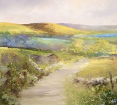 A Spring Morning on the Moors - oil on paper - 23 x 26cm - £650.00