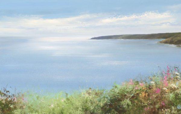 A Summer's Day, Start Point, Devon - oil on paper - 56 x 33cm - £1,100.00