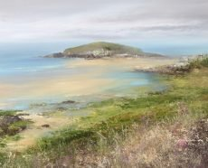Low Tide, Burgh Island, Bigbury on sea - oil on paper - 33 x 40cm £950.00