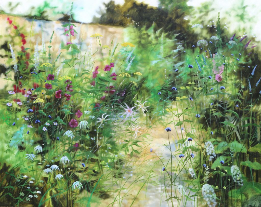 Moving at summer's pace I. 150cm x 120cm. unframed.