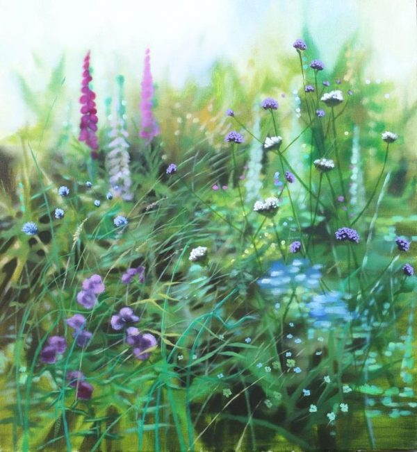 Dylan Lloyd - When the chance sight II, 55 x 50cm, oil on canvas, framed