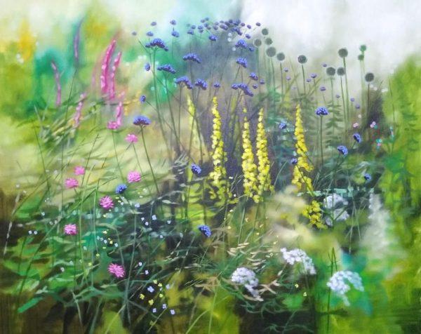 Dylan Lloyd, oil on canvas, framed, un jour ou l'autre V 75 X 60cm. £1300