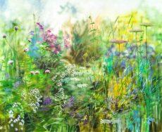Dylan Lloyd - summer coastal garden 1 100 x 80cm