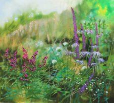 Dylan Lloyd - walk to Slapton, 50 x 45cm framed