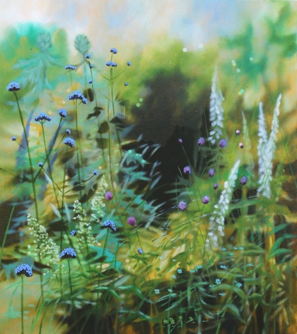 Dylan Lloyd - where green rivers flow, 45 x 50cm, framed
