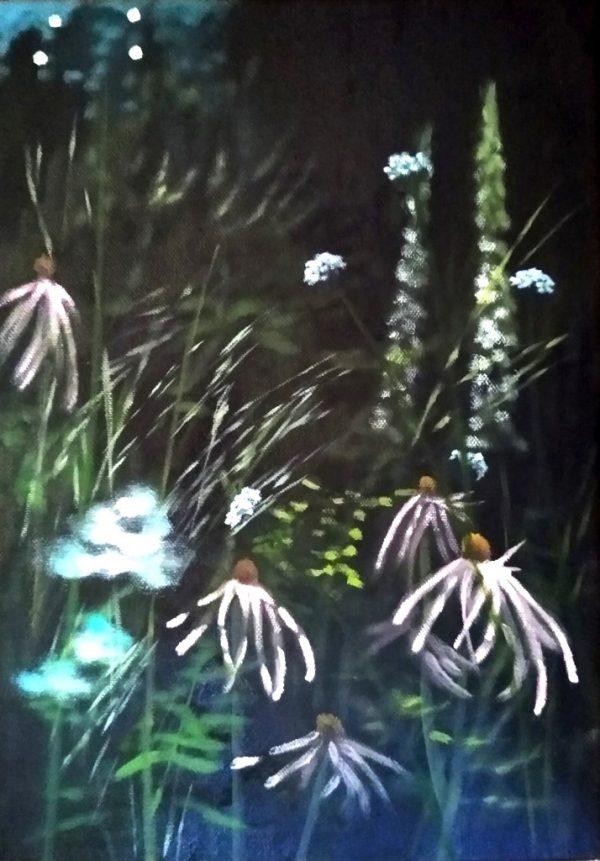 Dylan Lloyd - Border's edge I 35 x 25cm oil on canvas, framed