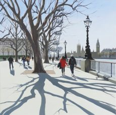 April Shadows, South Bank 61x61cm £1295