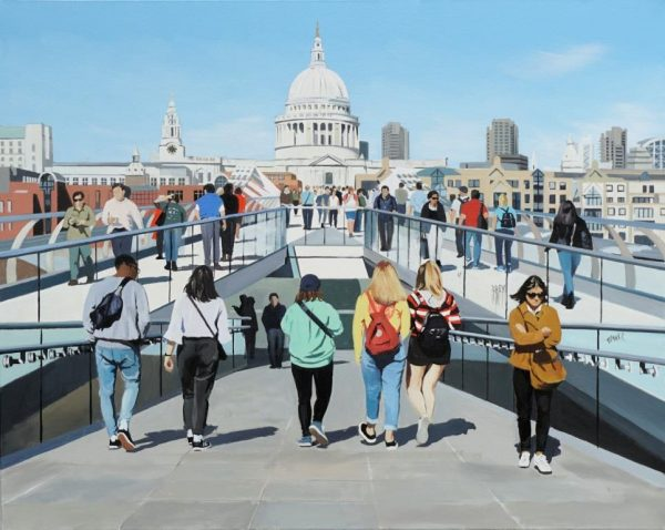 City Stroll Millennium Bridge 61x76 £1495
