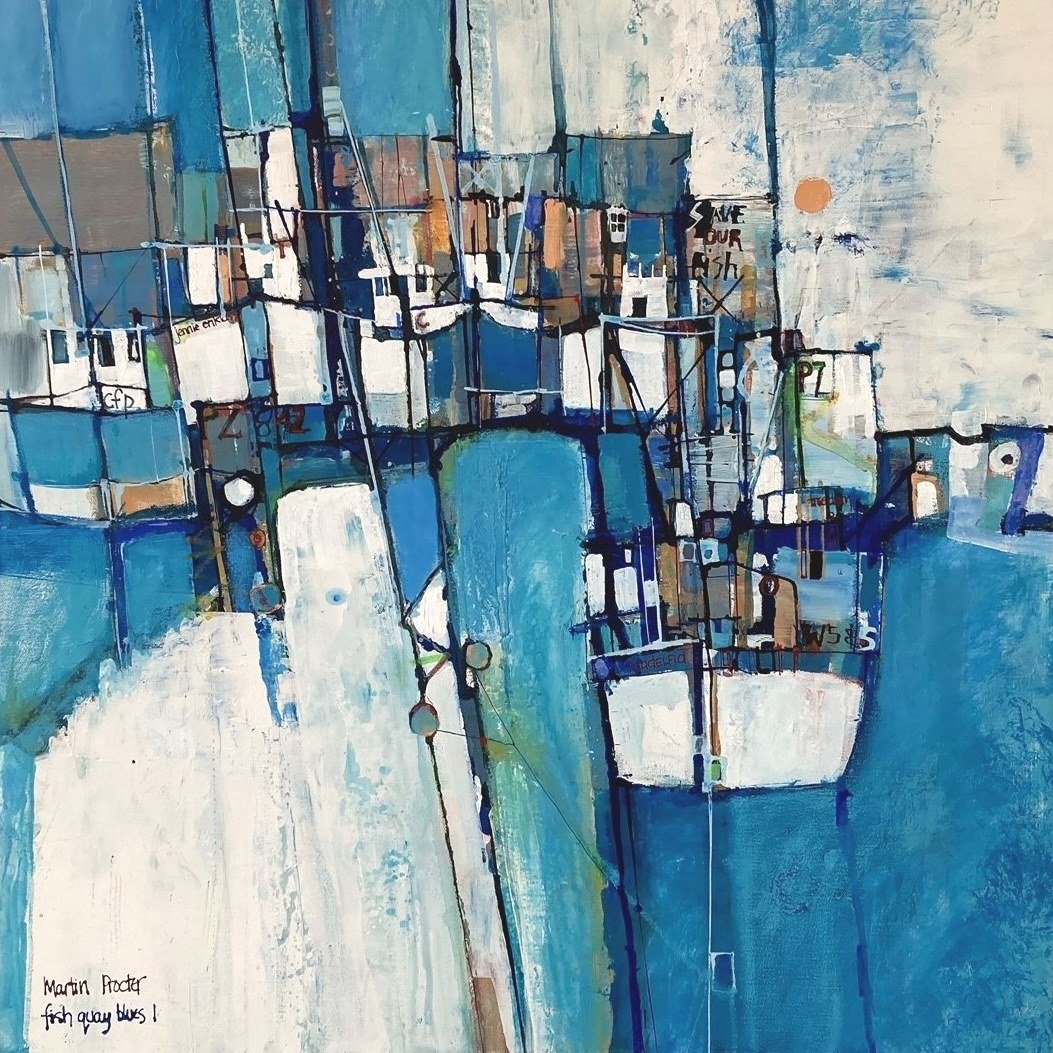 Fishquay Blues 1 - Martin Procter without frame