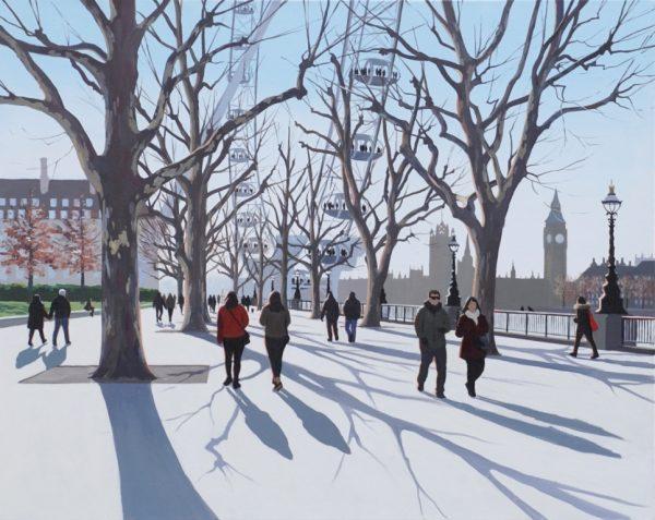 Morning Shadows, South Bank 61x76cm £1495