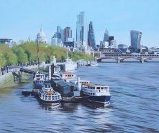 The City from Waterloo Bridge 91x76cm £2495