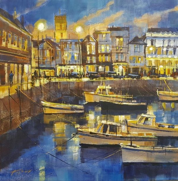 Chris Forsey All lit up, Dartmouth 50x50 £1250