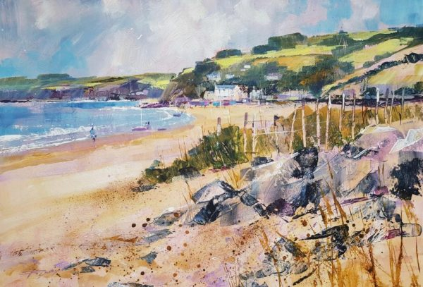 Chris Forsey Along the beach to Torcross 40x58 £1250