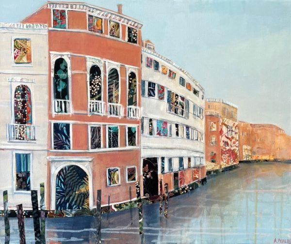 Anna Perlin Around the Corner, Venice 51cm x61cm £1400