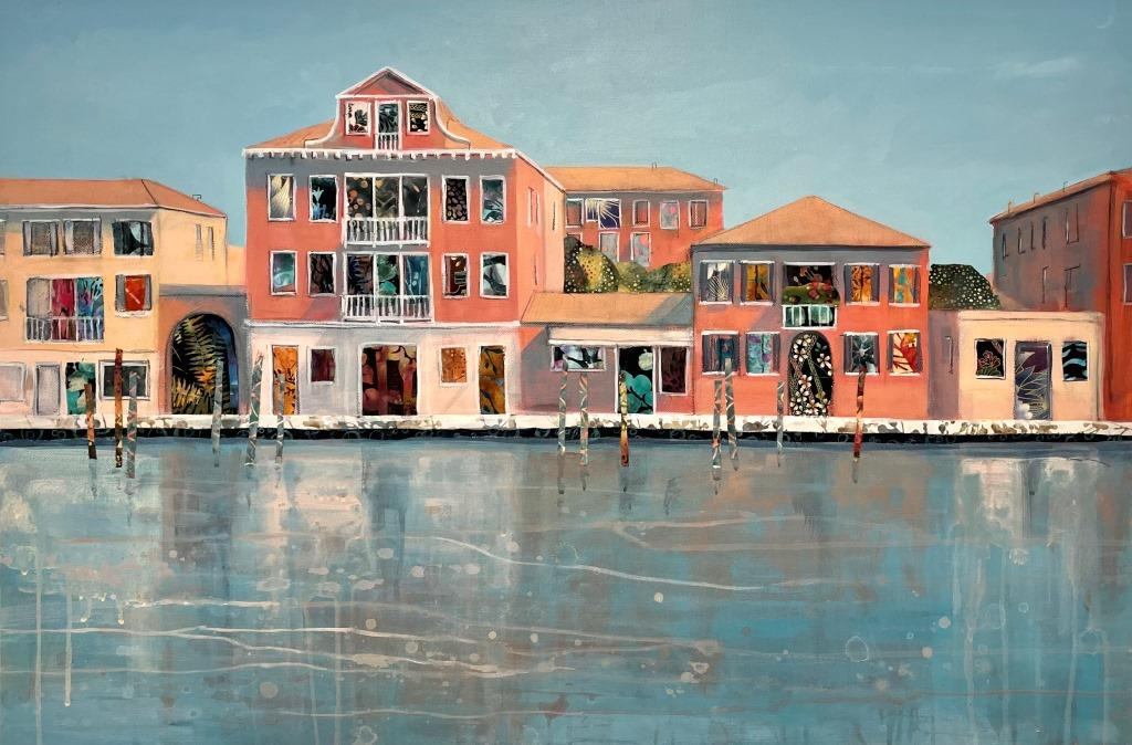 Anna Perlin Sun and Reflections, Venice 91cm x 60.5cm £1950