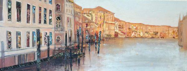 Anna Perlin Warm Evening Light, Venice 35.5cm x91cm £1400