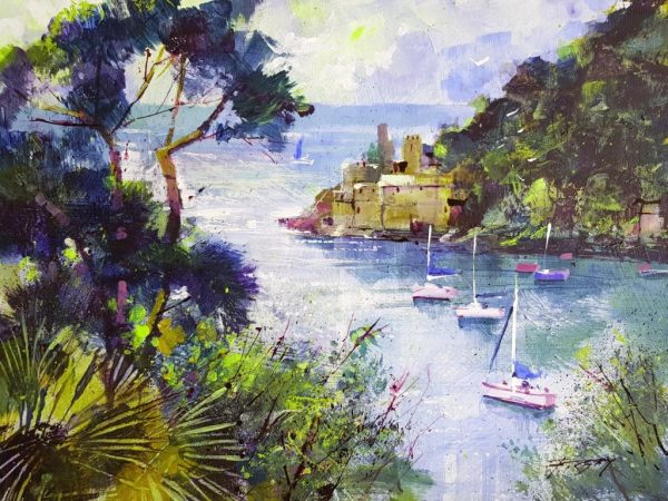 Chris Forsey Castle and Dart 25x18 £250