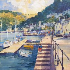 Crabbing from the steps, Dartmouth 50x50 £1250