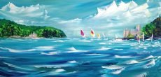 Dart - Coming In To The Moorings 80x40