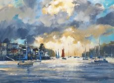 Chris Forsey Dramatic skies, The Dart 60x80 £1750