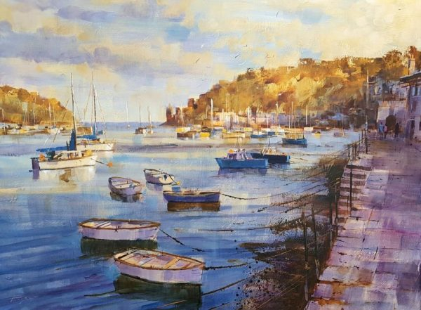 Chris Forsey Evening calm and the light of sunset2 80X60