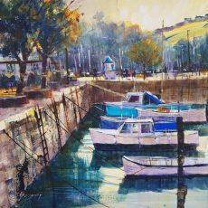 Chris Forsey Inner harbour, Dartmouth 40x40 £950