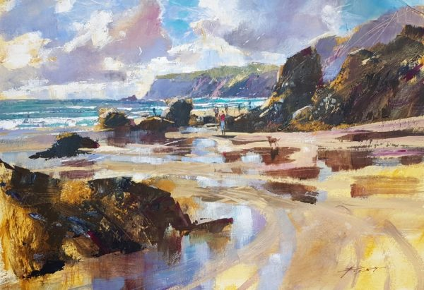 Chris Forsey Moving clouds, beach reflections 40x58 £1250