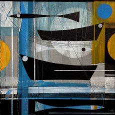 Shorelines (ii). 35 x 35cm £595. Heidi Archer