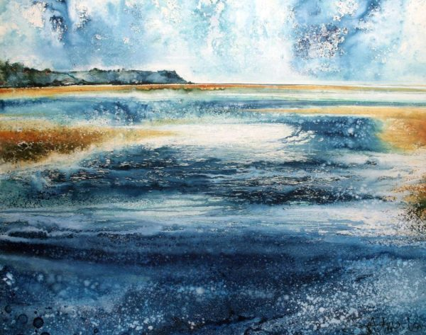 The Tide Rushes In - Erme Estuary (66 x 83cm)