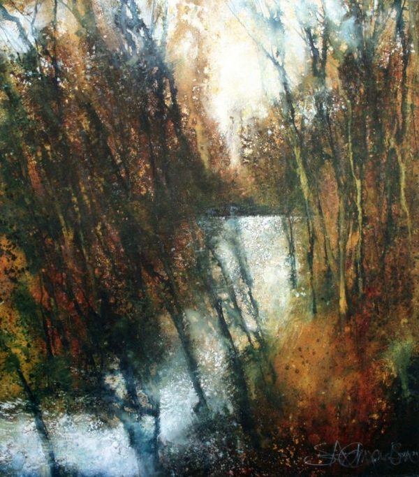Through the trees the Light (45 x 51cm)
