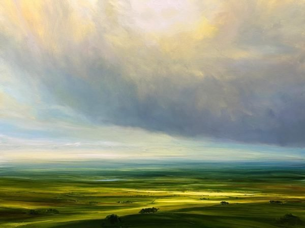 CLOUDS HANG HEAVY IN THE AIR 18X24 £1700